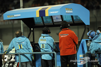 Rizla+ Suzuki team pitwall