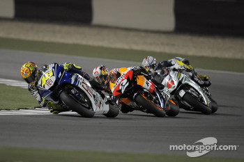 Valentino Rossi leads Dani Pedrosa