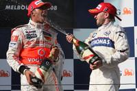 Formula 1 Foto - Nick Heidfeld, BMW Sauber F1 Team, Lewis Hamilton, McLaren Mercedes, Nico Rosberg, WilliamsF1 Team