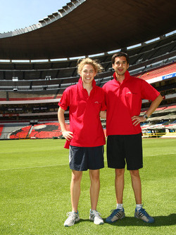 Rahel Frey, driver of A1 Team Switzerland and Neel Jani, driver of A1 Team Switzerland at the Azteca stadium