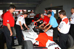 Penske car at tech inspection