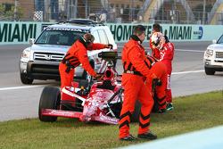 Dan Wheldon's damaged car