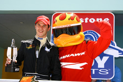 Podium: race winner Dillon Battistini