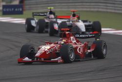 Hiroki Yoshimoto leads Adrian Valles and Kamui Kobayashi