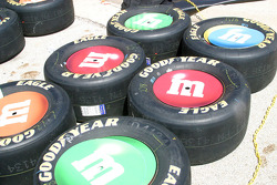 Big M&M's cover Kyle Busch's tires