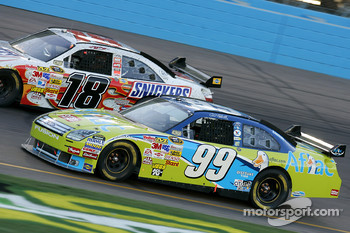Carl Edwards and Kyle Busch