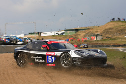 GT4 Team RPM Ginetta G50 off at Carlube