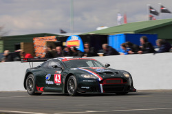 Aston Martin on start finish straight
