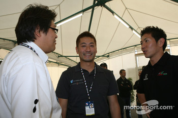 Honda Welcome Party: Roger Yasukawa and Hideki Mutoh