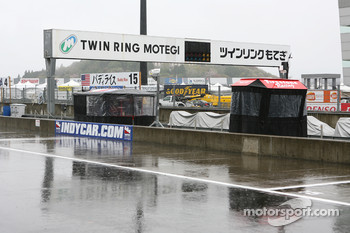 A rainy morning at Twin Ring Motegi