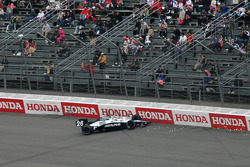 Marco Andretti in the wall
