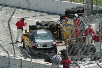 Pace car crash