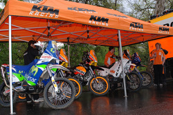 KTM Repsol Team at scrutineering