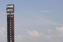 Tony Stewart wins the Aaron's 312 followed by David Stremme and Bobby Hamilton Jr.