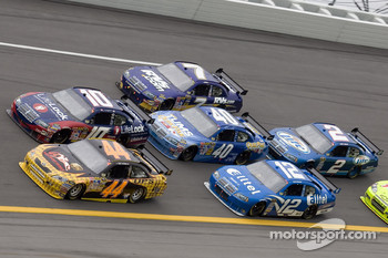 David Reutimann and Patrick Carpentier battle in turn four