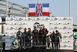 LMGT1 podium: class winners Tomas Enge and Antonio Garcia, second place Olivier Beretta, Patrice Goueslard and Guillaume Moreau, third place Patrice Manopoulos, Jean-Luc Blanchemain and Sébastien Dumez