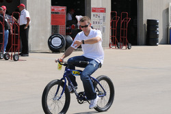 Ed Carpenter riding his bike