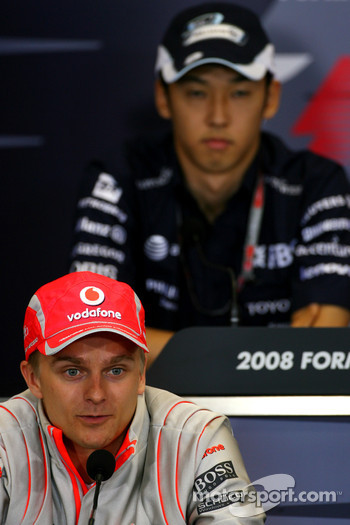 FIA press conference: Heikki Kovalainen, McLaren Mercedes, Kazuki Nakajima, Williams F1 Team