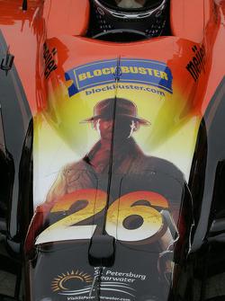 Indiana Jones graces Marco Andretti's nose cone