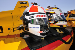 Helmets belonging to Sascha Maassen and Patrick Long