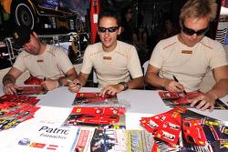 Harrison Brix, Patrick Friesacher, and Mika Salo