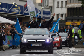 Start of the parade with Opel drivers
