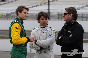 Will Power, Oriol Servia, and Jimmy Vasser