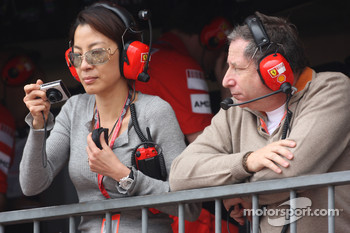 Michelle Yeoh Girlfriend of Jean Todt with Jean Todt