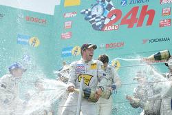 Podium:  Edgar Althoff gets champagned