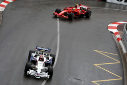 Robert Kubica,  BMW Sauber F1 Team leads Felipe Massa, Scuderia Ferrari