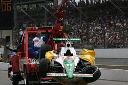 Tony Kanaan's car after accident