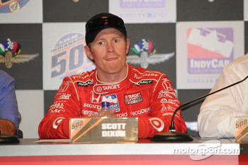 Scott Dixon during the post-race press conference