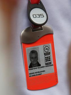 Heikki Kovalainen, McLaren Mercedes, F1 Pass