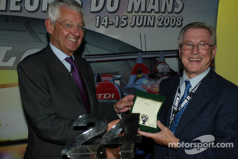 Martin Birrane, Jean-Claude Plassart - ACO President with ACO Award