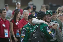 Winner Dale Earnhardt Jr. celebrates
