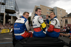 Oliver Panis, Simon Pagenaud and Marcel Fassler