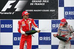 Podium: race winner Felipe Massa and Jarno Trulli