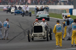 Drivers parade: Heikki Kovalainen, McLaren Mercedes, Lewis Hamilton, McLaren Mercedes