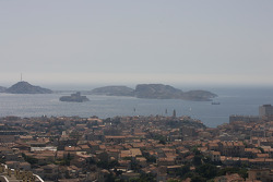 Visit of Marseille: Frioul Islands in the Mediterranean sea