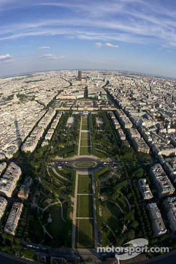 Visit of Paris: a view from the Eiffel Tower