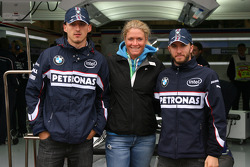 Robert Kubica,  BMW Sauber F1 Team and Nick Heidfeld, BMW Sauber F1 Team with Suzann Pettersen, Golfer