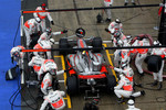 Lewis Hamilton, McLaren Mercedes during pitstop