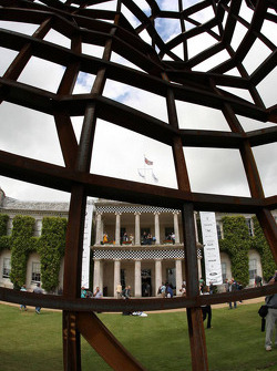 Land Rover display in front of Goodwood House