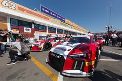 全新的奥迪R8 LMS赛车首度亮相东望洋赛道