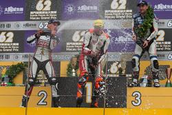 Podium: winner Peter Hickman, second place Martin Jessopp, third place Michael Rutter