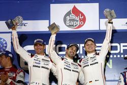 Podium: overall winners Romain Dumas, Neel Jani, Marc Lieb, Porsche Team