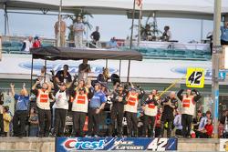 Crew of Kyle Larson, Hscott Motorsports Chevrolet