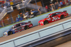 Landon Cassill, Hillman Circle Sport LLC Chevrolet and J.J. Yeley, BK Racing Toyota
