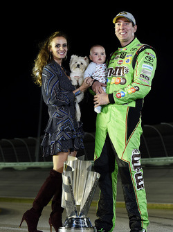 NASCAR Sprint Cup Series champion Kyle Busch with wife Samantha and son Brexton