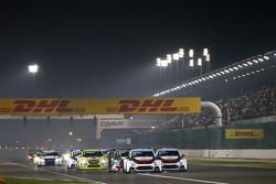 Start: Jose Maria Lopez, Citroën C-Elysée WTCC, Citroën World Touring Car team leads